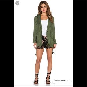 Band of Gypsies ANORAK JACKET IN MILITARY GREEN